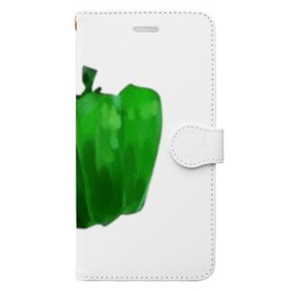 ヤサピーのピーマン Book-style smartphone case