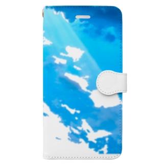 そら Book-style smartphone case