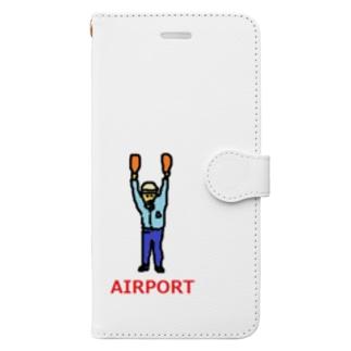 エアライン エアポート マーシャラー 空港 飛行機 Book-style smartphone case