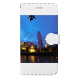 みなとみらいの夜景 Book-style smartphone case
