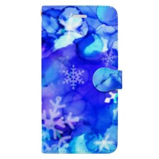 snowflake Book-style smartphone case