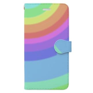 虹色 Book-style smartphone case