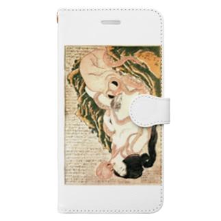 春画 蛸と海女 葛飾北斎 Book-style smartphone case