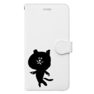 筆猫-fudeneko- Book-style smartphone case