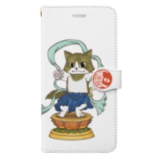 金剛猫士像 Book-style smartphone case