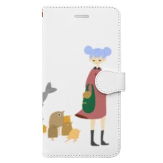 全員連れてってください Book-style smartphone case