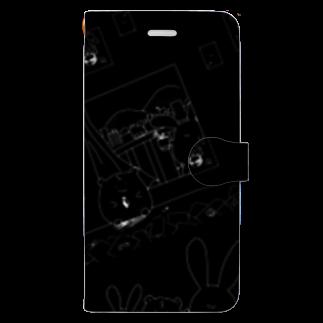 BabyShu shopのノスタルジー鷺ハムシリーズblackスマホケース Book-style smartphone case