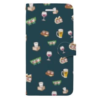 YURU居酒屋(緑) Book-style smartphone case