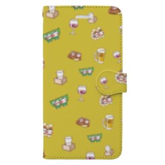 YURU居酒屋(からし) Book-style smartphone case