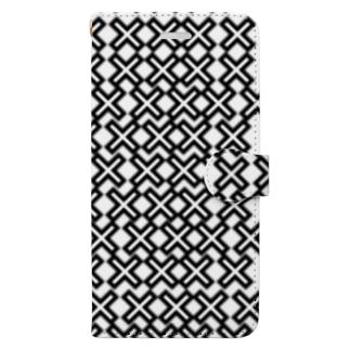 めっちゃバツ Book-style smartphone case