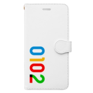 marikiroの0102_誕生日_記念日_カラー Book-style smartphone case