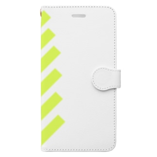 suzuri_fullgraphicT-template-XL_slash_lime_yellow_ Book style smartphone case