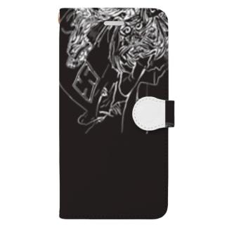 獅子舞スマホケース Book-style smartphone case