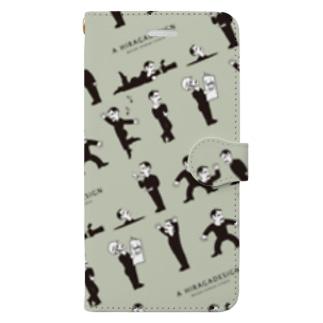 フランチェスコ_スマホケース_グリーン Book-style smartphone case