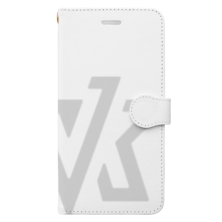 VK ロゴ ライトグレイ Book-style smartphone case