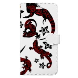 あやるの爬虫類(模様入) Book-style smartphone case