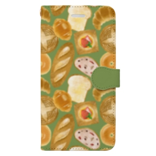 [ breads ] グリーン Book-style smartphone case