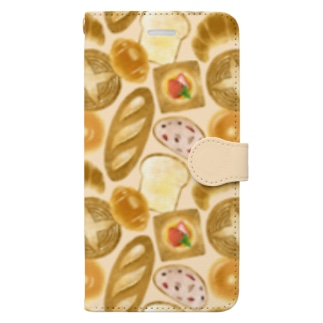 [ breads ] ベージュ Book-style smartphone case
