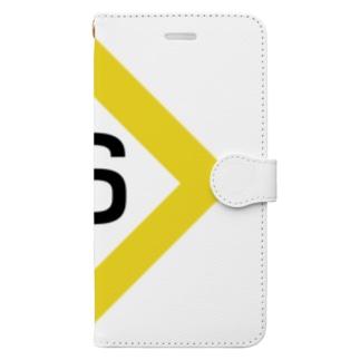 【鉄道グッズ】6両 停止位置目標 停目 Book-style smartphone case