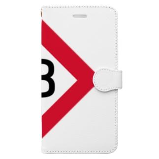 【鉄道グッズ】8両 停止位置目標 停目 Book-style smartphone case