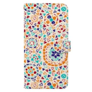 トルコのモザイクランプ(オレンジ) Book-style smartphone case