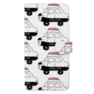 パトカー Book-style smartphone case