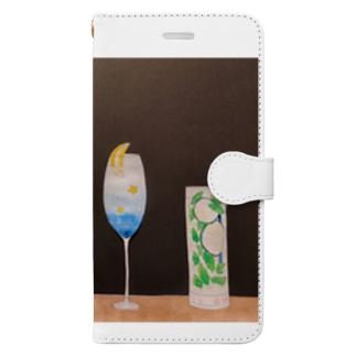 季節のカクテル Book-style smartphone case