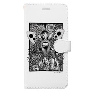 たにみと死の淵の霊合星人の葛藤 Book-style smartphone case