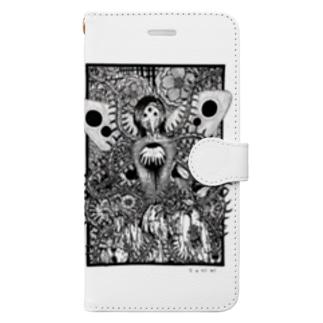 たにみと死の淵の派生霊合星人 Book-style smartphone case
