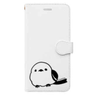 シマエナガ Book-style smartphone case
