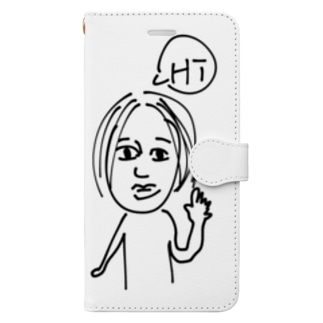 センター分け Book-style smartphone case