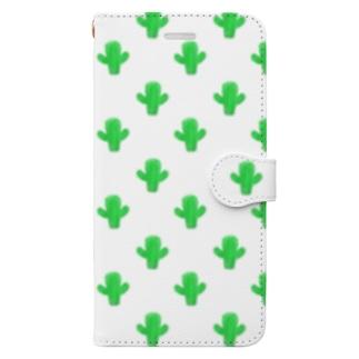 さわやかサボテン🌵💚 Book-style smartphone case