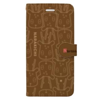 ならきちグラム茶色 Book-style smartphone case
