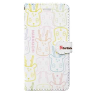 ならきちモノグラム(カラー) Book-style smartphone case