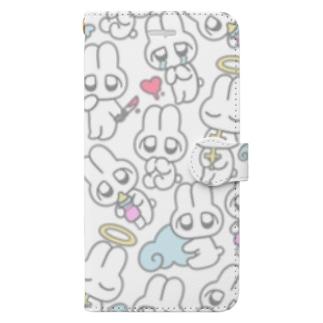 めんへらうさちゃん Book-style smartphone case