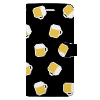 ドット絵ビール Book-style smartphone case