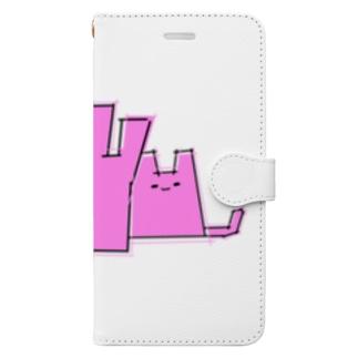 Nayunyan pink Book-style smartphone case