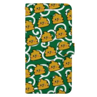 うんちゃんスマケー 和柄 Book-style smartphone case