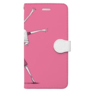 のびをしよう Book-style smartphone case