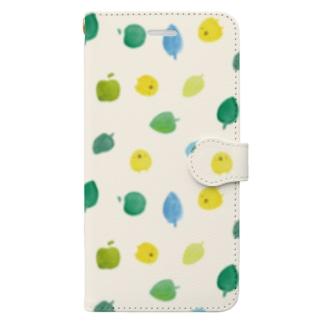 ひよこさんと葉っぱとりんご Book-Style Smartphone Case