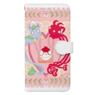 青龍&朱雀のブランコ Book-style smartphone case
