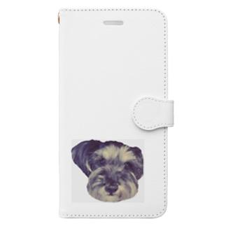 シュナウザーのあたちあんちゃん✿*゜ Book-style smartphone case