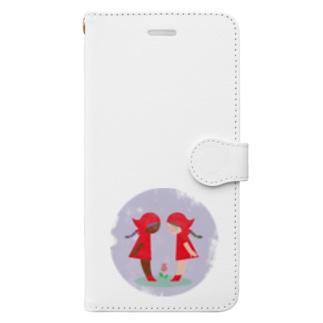 赤い頭巾 Book-style smartphone case