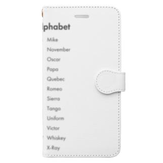 クウネルアソブシゴトスルのNATOフォネティックコード Book-style smartphone case