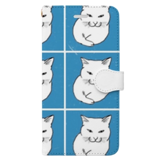 Relax cat(blue) Book-Style Smartphone Case