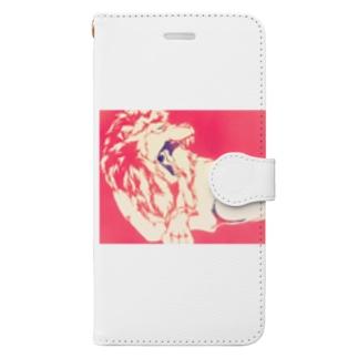 ライオンのナッツ Book-style smartphone case