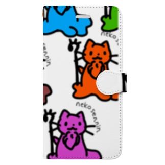 ねこせんにん大集合! Book-style smartphone case