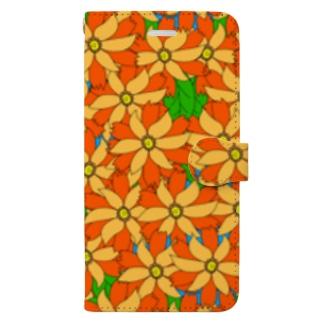 riekim オレンジ Book-style smartphone case