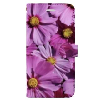 コスモス Book-style smartphone case