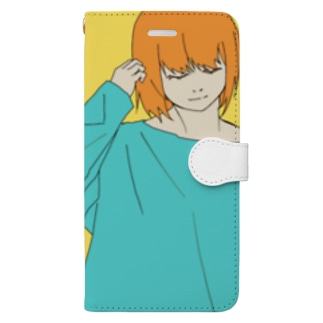 オレンジガール Book-style smartphone case